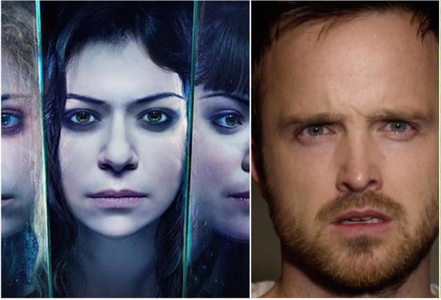 Spammers del Mes (abril): Tatiana Maslany y Aaron Paul.