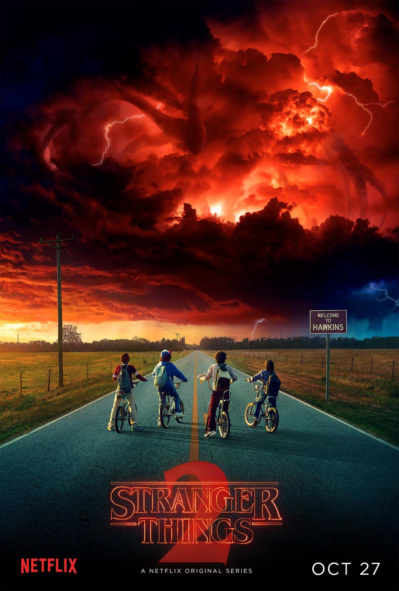 póster stranger things temporada 2