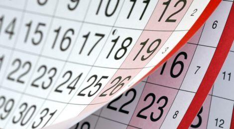 Calendario 2017/2018 (verano)