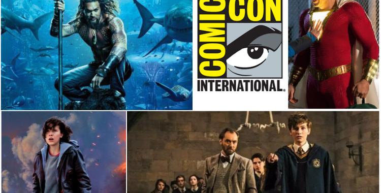 Comic-Con 2018: Tráilers de Glass, Aquaman, Shazam!, Godzilla King of the Monsters y Animales Fantásticos Los Crímenes de Grindelwald