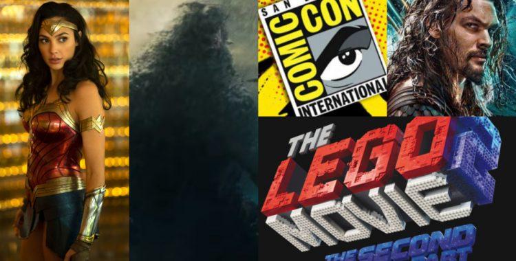 Comic-Con 2018: Paneles de Godzilla King of the Monsters, Aquaman, The Lego Movie 2 y Wonder Woman 1984