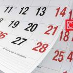 Calendario 2019/2020 (otoño-invierno)